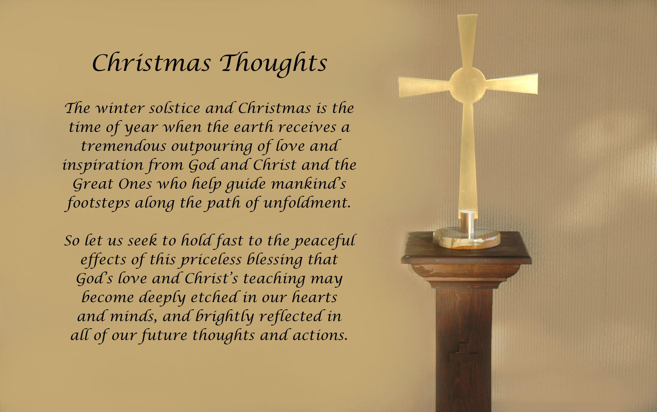 Christmas Thoughts blessings outpouring God Christ